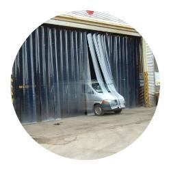 PVC závesy na priemyselné brány
